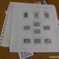 Sellos: HOJAS EDIFIL ESPAÑA 1990 COMPLETO CON FILOESTUCHES TRANSPARENTES SIN SELLOS (USADAS BIEN). Lote 115747279