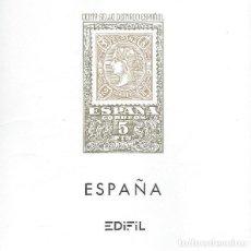 Sellos: HOJAS ALBUM SELLOS EDIFIL ESPAÑA AÑO 1986 MONTADAS FILOESTUCHES TRANSP.. Lote 119129651