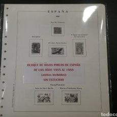 Sellos: HOJAS DEL ÁLBUM PHILOS AÑOS 1985 AL 1988. Lote 125712760