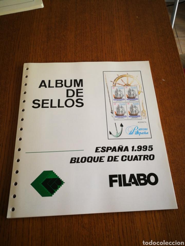 SUPLEMENTO FILABO PARA BL. DE 4,AÑO 1995 (Sellos - Material Filatélico - Hojas)