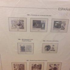 Sellos: DISTRIBUIDOR EDIFIL HOJAS 1984/1992 CREMA MONTADO TRASPARENTE ESPAÑA. Lote 134522410