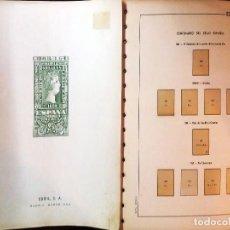 Sellos: JUEGO DE HOJAS EDIFIL ESPAÑA CENT. 1950 A 1970, MONTADO CON FILOSTUCHES BLANCOS.PVP 210 € SEMINUEVO.. Lote 137567782