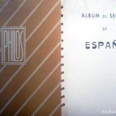 Sellos: JUEGO DE HOJAS PHILOS ESPAÑA 1850 - 1949 DE 13 ANILLAS Y SIN FILOSTUCHES.SEMINUEVAS.PVP 220 €. Lote 137926042