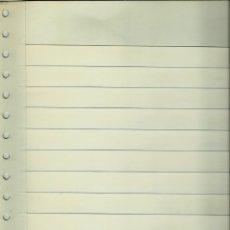 Sellos: (HOJAS) ALBUM DE SELLOS: HOJA CLASIFICADORA DE NOVEDADES DE 12 BANDAS BLANCAS EN UNA CARA NUEVA. Lote 139112254