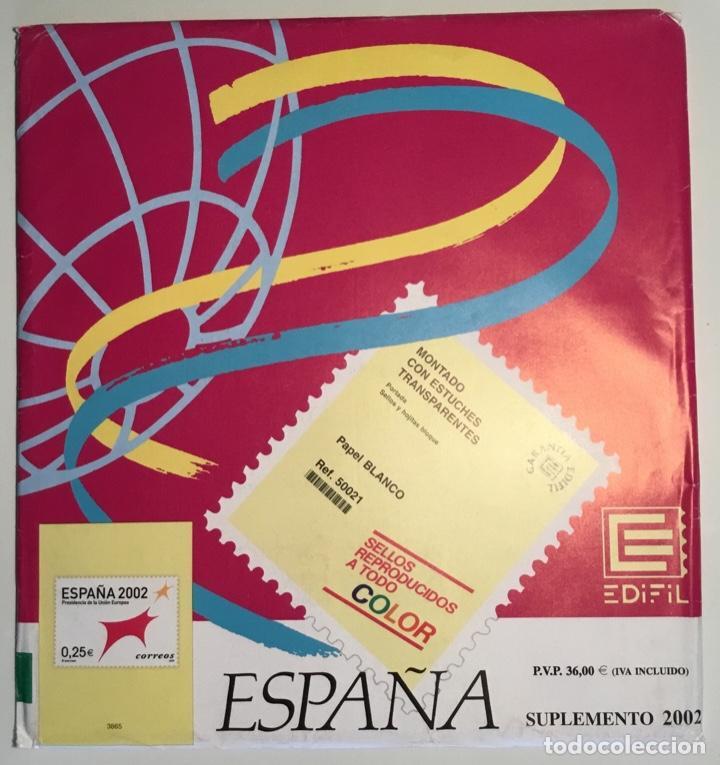2002 ESPAÑA HOJAS EDIFIL 2002 FILOESTUCHE TRANSPARENTE - NUEVAS - (Sellos - Material Filatélico - Hojas)