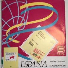 Sellos: 2002 ESPAÑA HOJAS EDIFIL 2002 FILOESTUCHE TRANSPARENTE - NUEVAS -. Lote 165684016