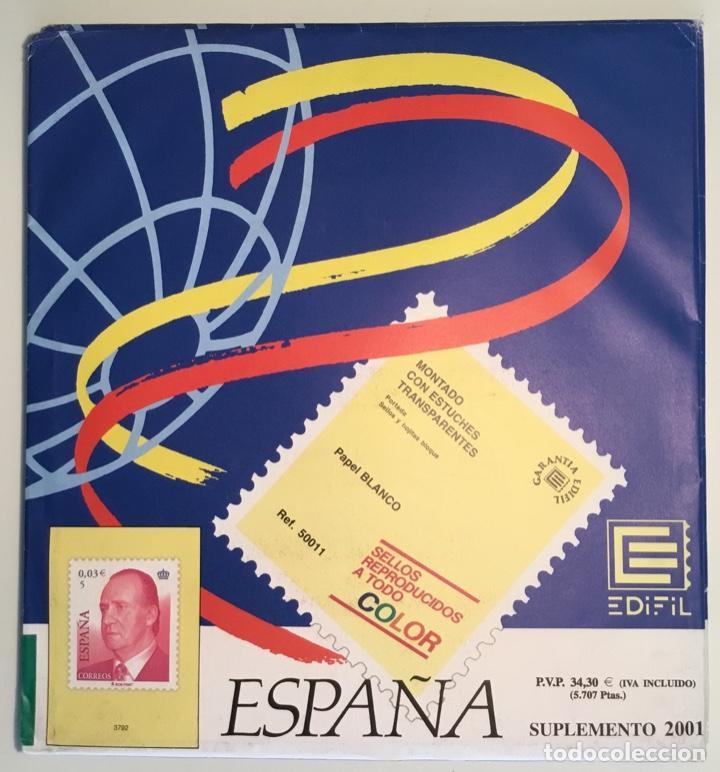 2001 ESPAÑA HOJAS EDIFIL 2001 FILOESTUCHE TRANSPARENTE - NUEVAS - (Sellos - Material Filatélico - Hojas)