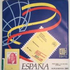 Sellos: 2001 ESPAÑA HOJAS EDIFIL 2001 FILOESTUCHE TRANSPARENTE - NUEVAS -. Lote 139523994