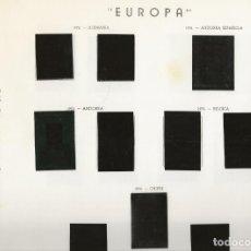 Sellos: HOJAS ÁLBUM EUROPA C.E.P.T. - PUIGFERRAT-OLEGARIO - AÑOS 1972-1974-1975. Lote 139657442