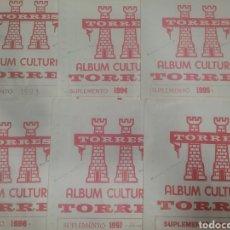 Sellos: LOTE DE SUPLEMENTOS TORRES 1993 AL 1998 ESTUCHADOS TRANSPARENTES. Lote 140607230