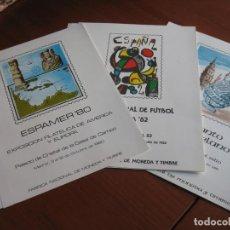 Sellos: LOTEDE 3 DOCUMNTOS FILATELICOS 12, 17 Y18. Lote 143172310