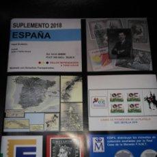 Sellos: ESPAÑA SUPLEMENTO EDIFIL 2018 BLOQUE DE CUATRO MONTADO. Lote 143771970