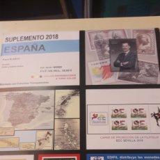 Sellos: EDIFIL 2018 SUPLEMENTOS SELLOS ESPAÑA MONTADO TRASPARENTE PARCIAL SELLOS Y HOJITAS BLOQUE. Lote 144037330