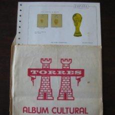 Sellos: HOJAS PARA SELLOS ÁLBUM CULTURAL TORRES SUPLEMENTO 1982. Lote 146305166