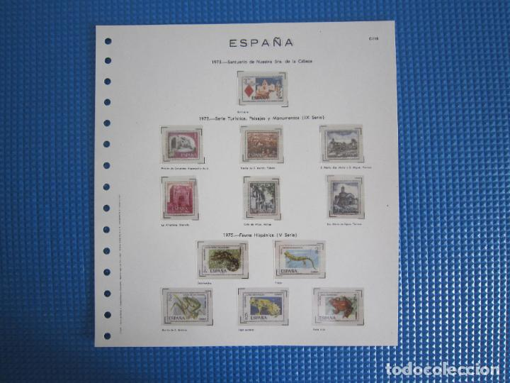 HOJA - FIVA C-110 - AÑO 1975 - ESPAÑA - SIN SELLOS - CON FILOESTUCHES TRANSPARENTES (Sellos - Material Filatélico - Hojas)