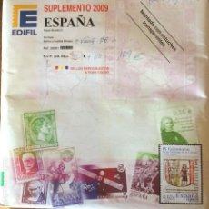 Sellos: EDIFIL. SUPLEMENTO 2009. ESPAÑA. Lote 150994738