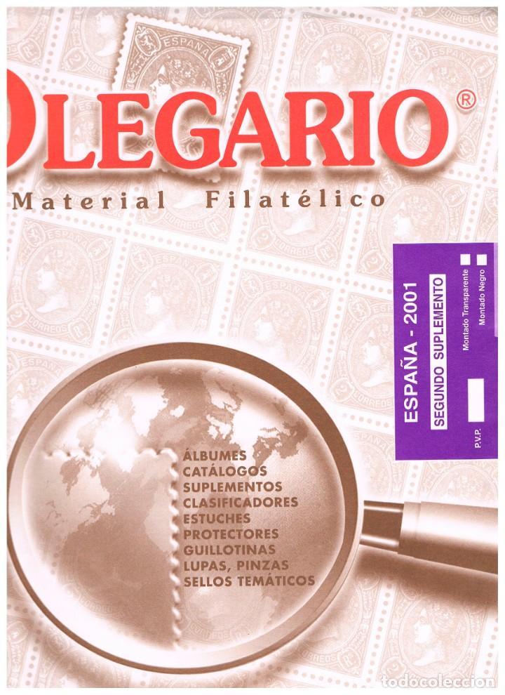HOJAS OLEGARIO AÑO 2001 MONTADAS CON ESTUCHES TRANSPARENTES, NUEVAS (Sellos - Material Filatélico - Hojas)