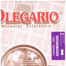 Sellos: HOJAS OLEGARIO AÑO 2001 MONTADAS CON ESTUCHES TRANSPARENTES, NUEVAS. Lote 157378574