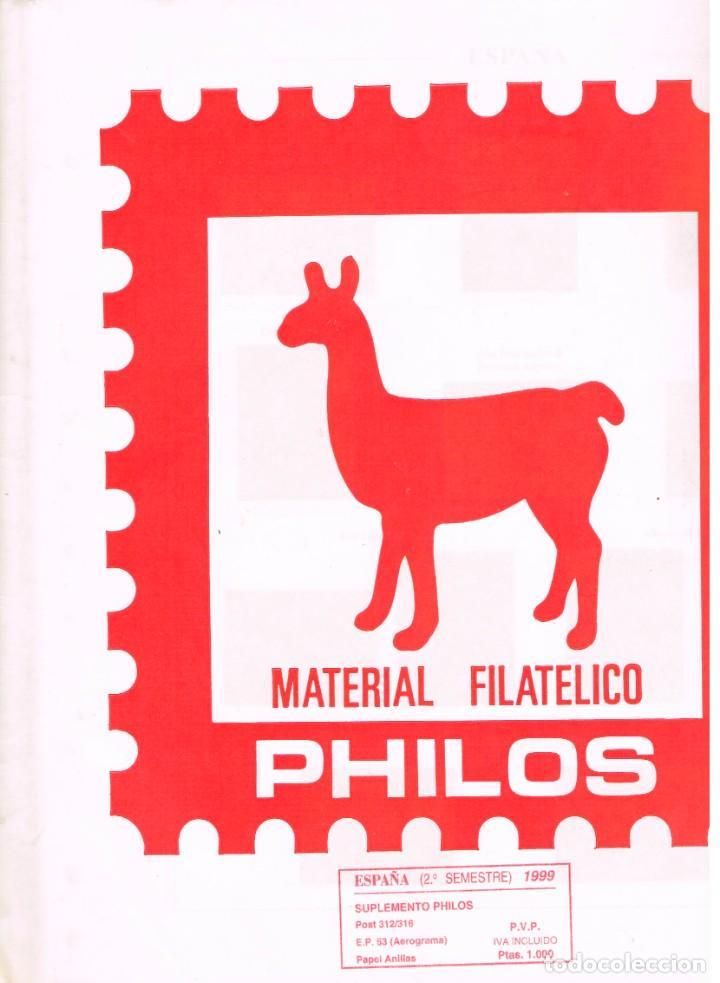 HOJAS PHILOS AÑO 1999 - SEGUNDO SEMESTRE. MONTADAS CON ESTUCHES NEGROS (Sellos - Material Filatélico - Hojas)