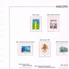 Sellos: HOJAS EDIFIL ANDORRA AÑO 2000, ANILLAS, COLOR, MONTADAS CON ESTUCHES TRANSPARENTES. HOJA Nº 38. Lote 157380050