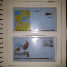 Selos: HOJA N°8 SOBRES ENTERO POSTAL AEROGRAMAS 1989/90. Lote 157930830