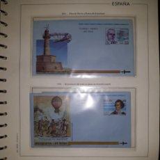 Sellos: HOJA N°9 SOBRES ENTERO POSTAL AEROGRAMAS 1991/92. Lote 157931214