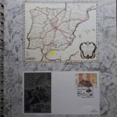 Sellos: HOJA N°123 ALBUM TEMÁTICO MUSEO POSTAL MADRID 1992. Lote 158886638