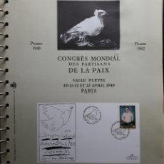Sellos: HOJA N°21 ALBUM TEMÁTICO PICASSO MALAGA 1983. Lote 158887668