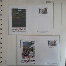 Sellos: HOJA SOBRES ENTERO POSTAL DRASSANES REIALS DE BARCELONA 1997. Lote 159361768