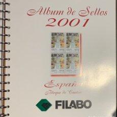 Sellos: HOJAS FILABO PARA SELLOS AÑO 2001 BLOQUES DE 4 MONTADAS. Lote 167933934