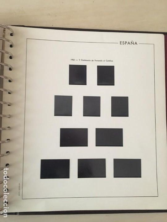 1855 - 1951, COLECCIÓN COMPLETA DE HOJAS EDIFIL. CON FILOESTUCHES NEGROS. (Sellos - Material Filatélico - Hojas)