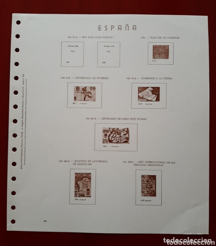 HOJAS PARA SELLOS OLEGARIO ESPAÑA 1981-1986 NUEVAS (Sellos - Material Filatélico - Hojas)