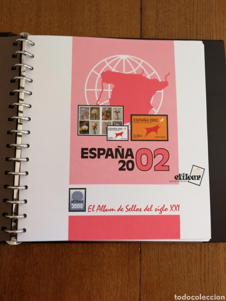 MATERIAL FILATELICO : HOJAS EFILCAR AÑO 2002 COMPLETO (LEER DESCRIPCIÓN) (Sellos - Material Filatélico - Hojas)
