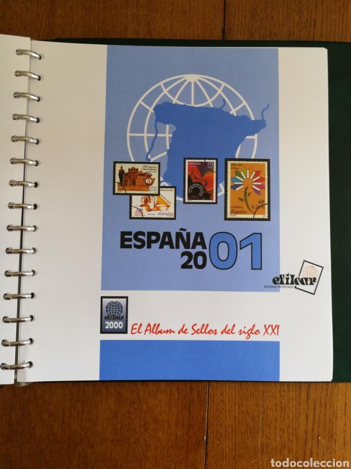 MATERIAL FILATELICO : HOJAS EFILCAR AÑO 2001 COMPLETO (LEER DESCRIPCIÓN) (Sellos - Material Filatélico - Hojas)