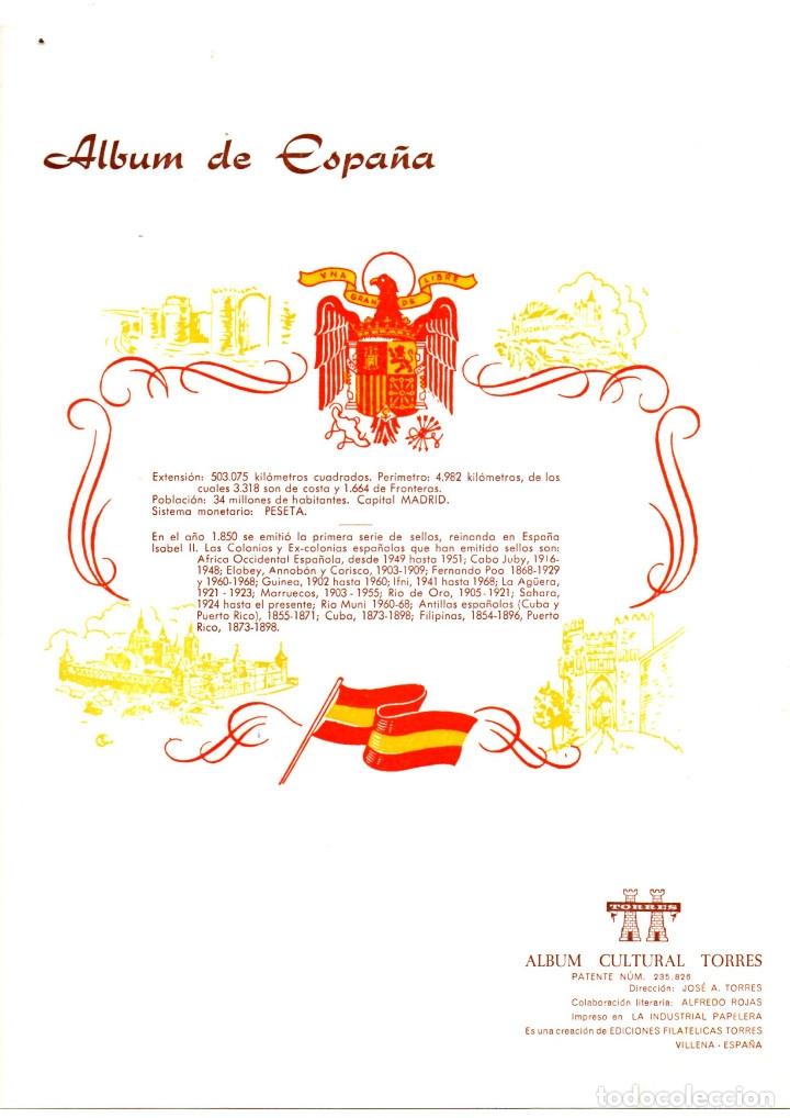 8 HOJAS VARIAS DE ALBUM TORRES (Sellos - Material Filatélico - Hojas)