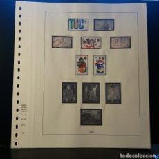 Selos: HOJA ALBUM LINDNER GRAN BRETAÑA 1968. SELLO PRE-IMPRESO BLANCO Y NEGRO. SELLOS NO. RESERVADO. Lote 177315540