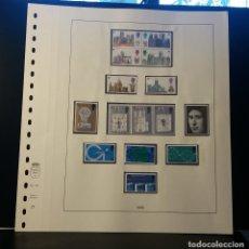 Selos: HOJA ALBUM LINDNER GRAN BRETAÑA 1969. SELLO PRE-IMPRESO BLANCO Y NEGRO. SELLOS NO. RESERVADO. Lote 177315779