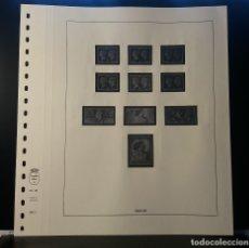 Timbres: HOJA ALBUM LINDNER GRAN BRETAÑA 1940-48. SELLO PRE-IMPRESO BLANCO Y NEGRO.. Lote 177374922