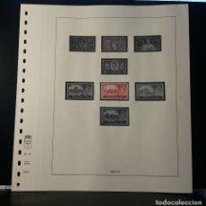 Timbres: HOJA ALBUM LINDNER GRAN BRETAÑA 1953-55. SELLO PRE-IMPRESO BLANCO Y NEGRO. SELLOS NO INCLUIDOS.. Lote 177375979