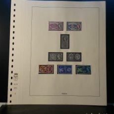 Selos: HOJA ALBUM LINDNER GRAN BRETAÑA 1960-61. SELLO PRE-IMPRESO BLANCO Y NEGRO. RESERVADO. Lote 177382633