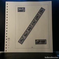 Selos: HOJA ALBUM LINDNER GRAN BRETAÑA 1966. SELLO PRE-IMPRESO BLANCO Y NEGRO. RESERVADO. Lote 177383448