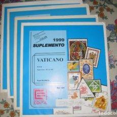 Sellos: ¡¡LIQUIDACIÓN!! SUPLEMENTO DE VATICANO 1999-2000-2001 Y 2002 MONTADO EN NEGRO. Lote 180251553