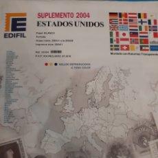Sellos: ESTADOS UNIDOS SUPLEMENTO SELLOS EDIFIL MONTADO ESTUCHES TRASPARENTES. Lote 183296946