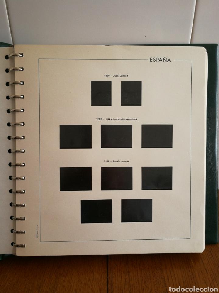 Sellos: ÁLBUM CON HOJAS EDIFIL AÑOS 1980/89 COMPLETO - Foto 3 - 184612480