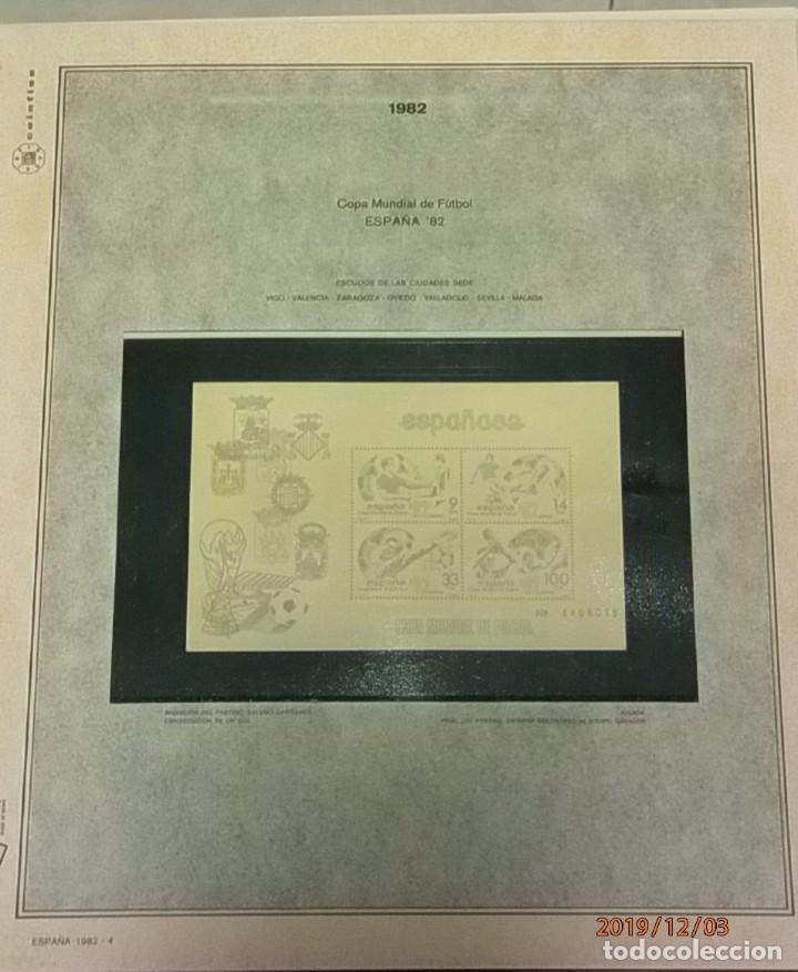 Sellos: ESPAÑA 1982 - HOJAS CON FILOESTUCHES - MARCA EFILCAR - AÑO COMPLETO - 9 HOJAS - 15 AGUJEROS. - Foto 4 - 84848500