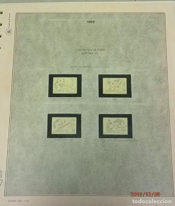 Sellos: ESPAÑA 1982 - HOJAS CON FILOESTUCHES - MARCA EFILCAR - AÑO COMPLETO - 9 HOJAS - 15 AGUJEROS. - Foto 5 - 84848500