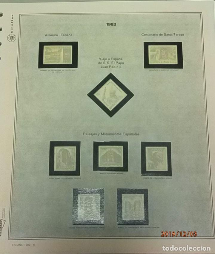 Sellos: ESPAÑA 1982 - HOJAS CON FILOESTUCHES - MARCA EFILCAR - AÑO COMPLETO - 9 HOJAS - 15 AGUJEROS. - Foto 7 - 84848500