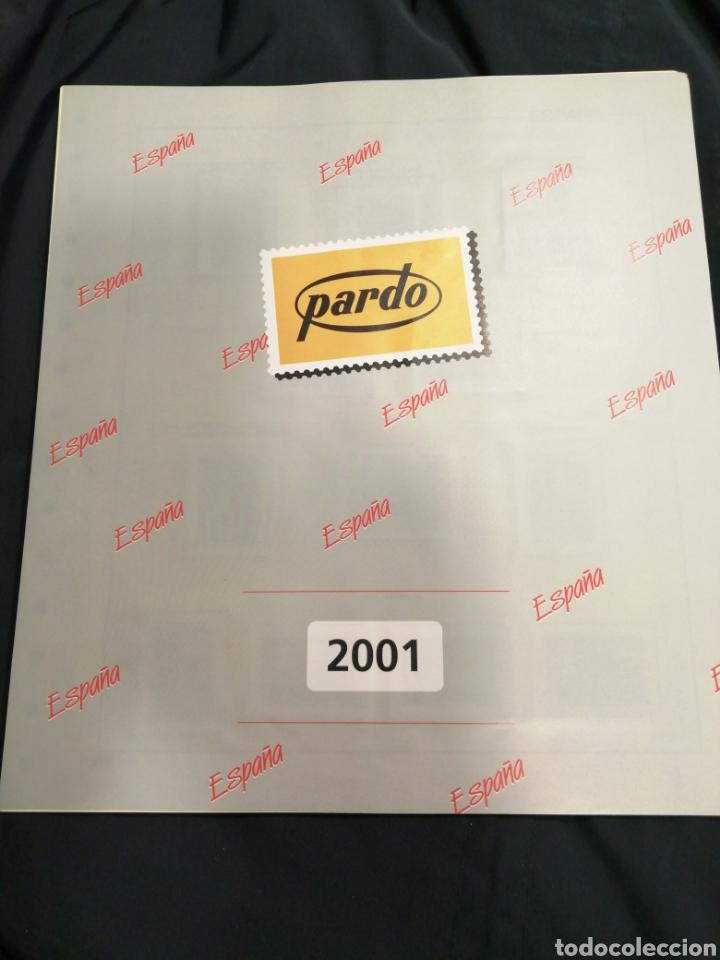 SUPLEMENTO PARDO AÑO 2001 CON ESTUCHES (Sellos - Material Filatélico - Hojas)