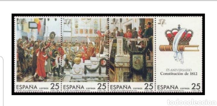 3 SERIES DE 175 ANIVERSARIO CONSTITUCIÓN 1812 (Sellos - Material Filatélico - Hojas)