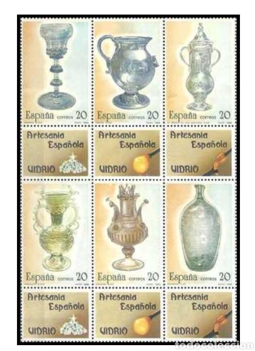 2 HOJAS SELLO ARTESANIA ESPAÑOLA 1988 (Sellos - Material Filatélico - Hojas)